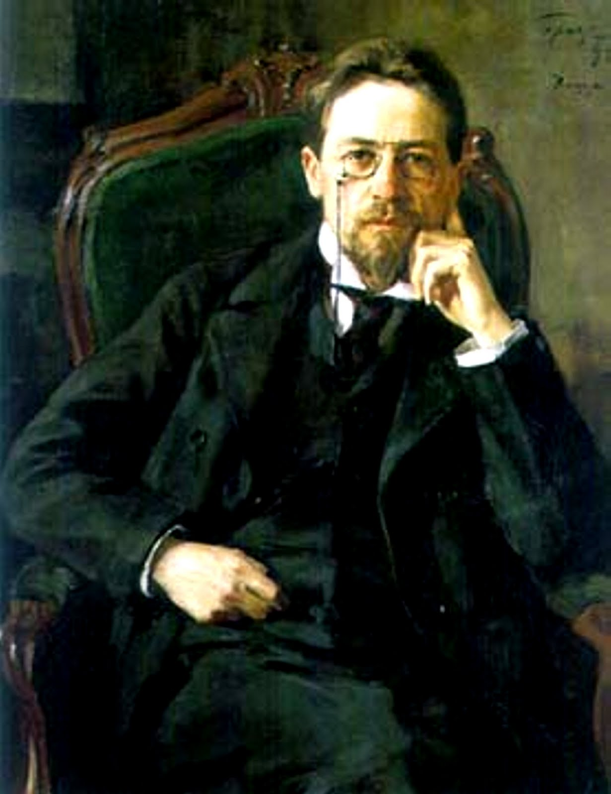 "the kiss chekhov Charles e may, a modern critic of chekhov, explains ""the short story is too short to allow for the character to be created by the kind of dense and social interaction through duration typical of the novel""(may 2)."
